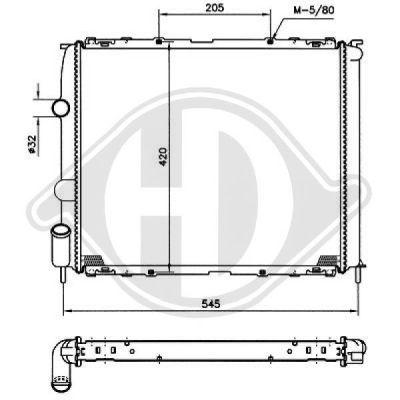 Radiateur, refroidissement du moteur - Diederichs Germany - 8129203