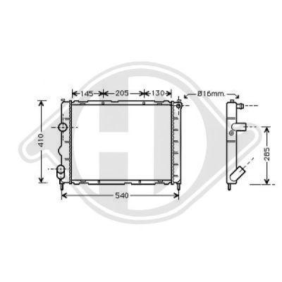 Radiateur, refroidissement du moteur - Diederichs Germany - 8129204