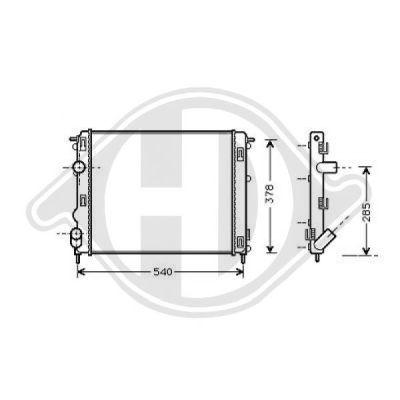 Radiateur, refroidissement du moteur - Diederichs Germany - 8129208