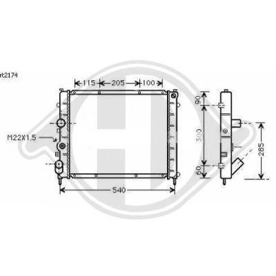Radiateur, refroidissement du moteur - HDK-Germany - 77HDK8129209