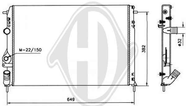 Radiateur, refroidissement du moteur - Diederichs Germany - 8129212