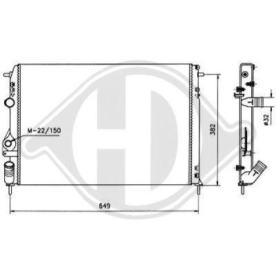 Radiateur, refroidissement du moteur - Diederichs Germany - 8129213