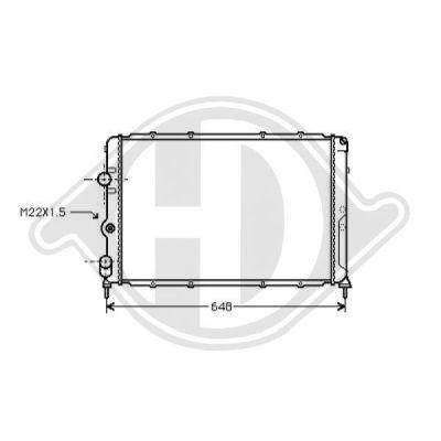 Radiateur, refroidissement du moteur - Diederichs Germany - 8129214