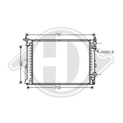 Radiateur, refroidissement du moteur - Diederichs Germany - 8129249