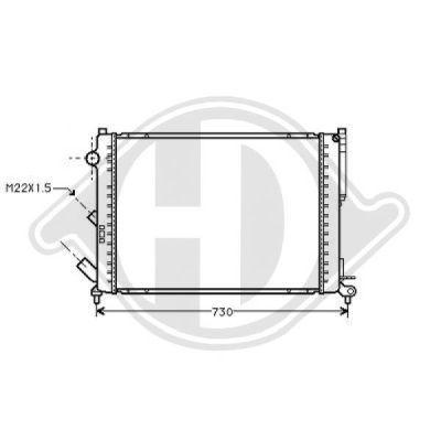 Radiateur, refroidissement du moteur - Diederichs Germany - 8129250