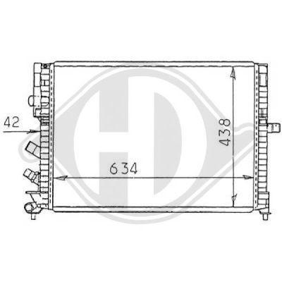 Radiateur, refroidissement du moteur - Diederichs Germany - 8129251