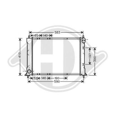 Radiateur, refroidissement du moteur - Diederichs Germany - 8130119