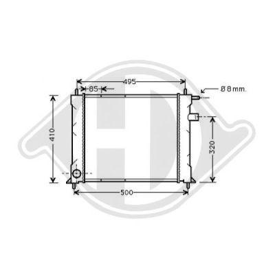 Radiateur, refroidissement du moteur - Diederichs Germany - 8130120