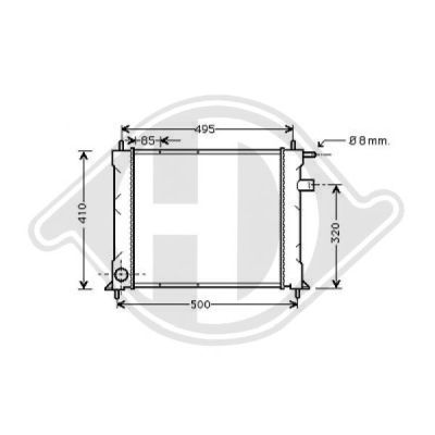 Radiateur, refroidissement du moteur - HDK-Germany - 77HDK8130120