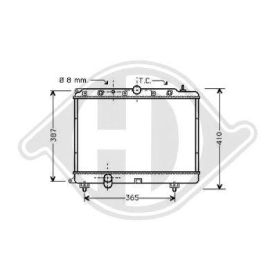 Radiateur, refroidissement du moteur - Diederichs Germany - 8130121