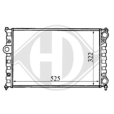 Radiateur, refroidissement du moteur - Diederichs Germany - 8133101