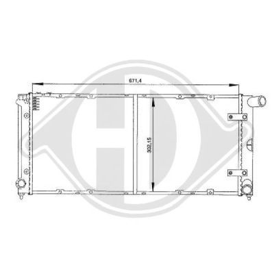 Radiateur, refroidissement du moteur - Diederichs Germany - 8133107