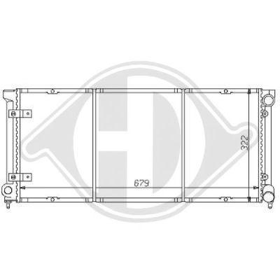 Radiateur, refroidissement du moteur - Diederichs Germany - 8133108