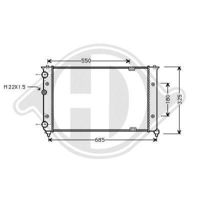 Radiateur, refroidissement du moteur - HDK-Germany - 77HDK8133113