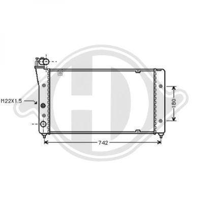 Radiateur, refroidissement du moteur - Diederichs Germany - 8133169