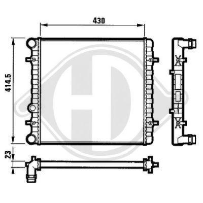 Radiateur, refroidissement du moteur - Diederichs Germany - 8134103