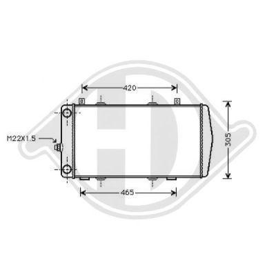 Radiateur, refroidissement du moteur - Diederichs Germany - 8134105