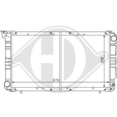 Radiateur, refroidissement du moteur - HDK-Germany - 77HDK8135102