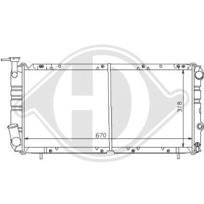 Radiateur, refroidissement du moteur - Diederichs Germany - 8135106