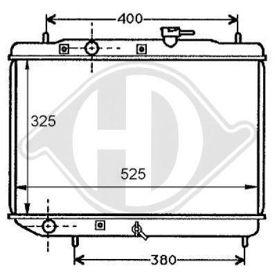 Radiateur, refroidissement du moteur - Diederichs Germany - 8135108