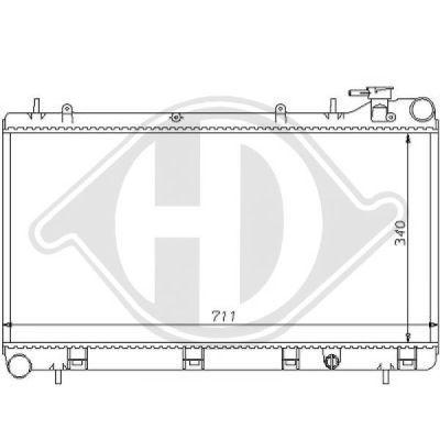 Radiateur, refroidissement du moteur - Diederichs Germany - 8135109