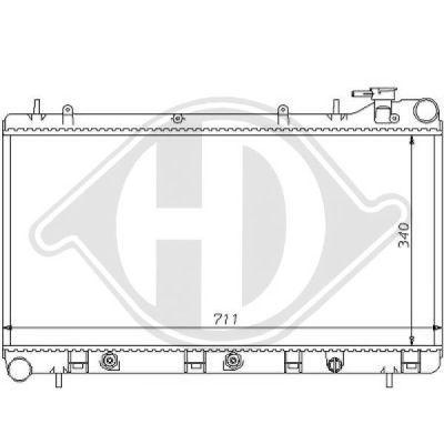 Radiateur, refroidissement du moteur - Diederichs Germany - 8135110