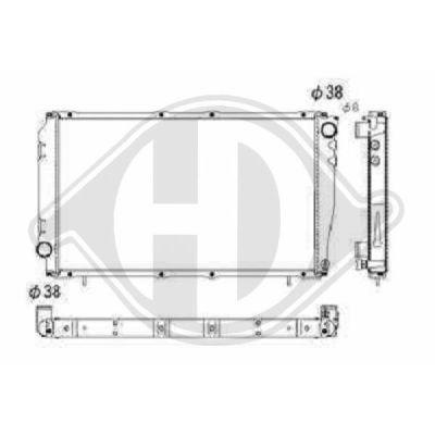 Radiateur, refroidissement du moteur - HDK-Germany - 77HDK8135111