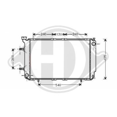 Radiateur, refroidissement du moteur - HDK-Germany - 77HDK8135112