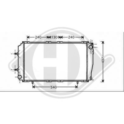 Radiateur, refroidissement du moteur - HDK-Germany - 77HDK8135113