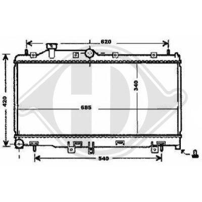 Radiateur, refroidissement du moteur - Diederichs Germany - 8135114