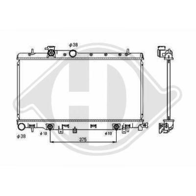Radiateur, refroidissement du moteur - Diederichs Germany - 8135115