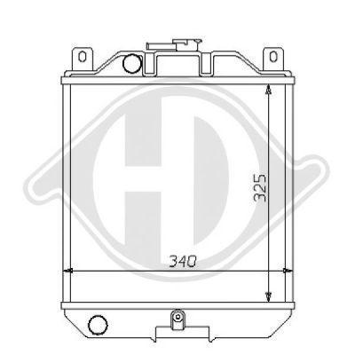 Radiateur, refroidissement du moteur - HDK-Germany - 77HDK8136103