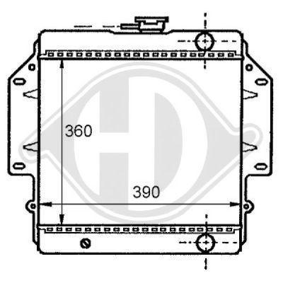 Radiateur, refroidissement du moteur - Diederichs Germany - 8136105