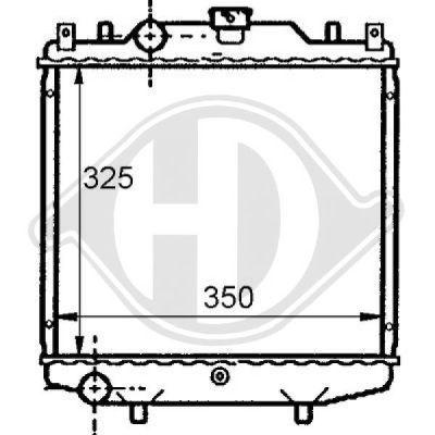 Radiateur, refroidissement du moteur - Diederichs Germany - 8136107