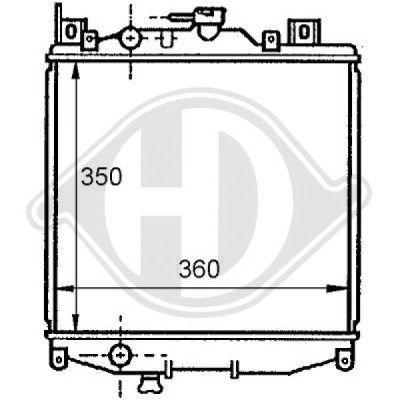 Radiateur, refroidissement du moteur - Diederichs Germany - 8136108