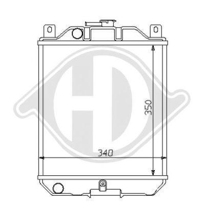 Radiateur, refroidissement du moteur - Diederichs Germany - 8136110