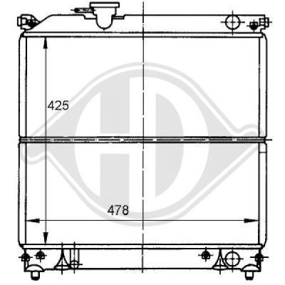 Radiateur, refroidissement du moteur - HDK-Germany - 77HDK8136111