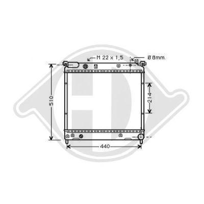Radiateur, refroidissement du moteur - Diederichs Germany - 8136112
