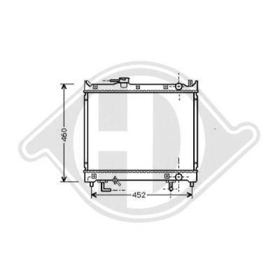 Radiateur, refroidissement du moteur - Diederichs Germany - 8136113