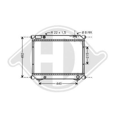 Radiateur, refroidissement du moteur - Diederichs Germany - 8136114