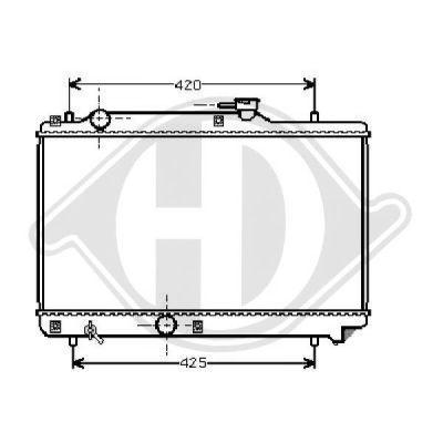 Radiateur, refroidissement du moteur - Diederichs Germany - 8136115