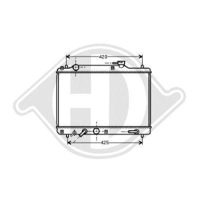 Radiateur, refroidissement du moteur - Diederichs Germany - 8136116