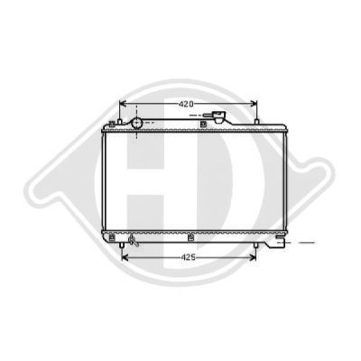 Radiateur, refroidissement du moteur - Diederichs Germany - 8136117