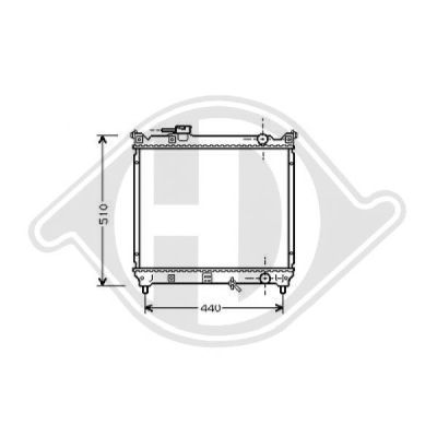 Radiateur, refroidissement du moteur - Diederichs Germany - 8136118
