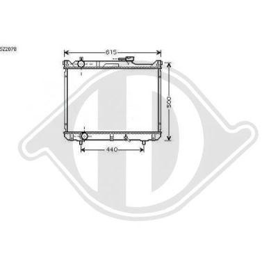 Radiateur, refroidissement du moteur - Diederichs Germany - 8136126
