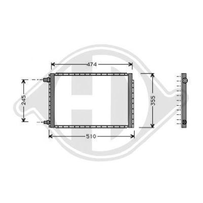 Condenseur, climatisation - Diederichs Germany - 8136127