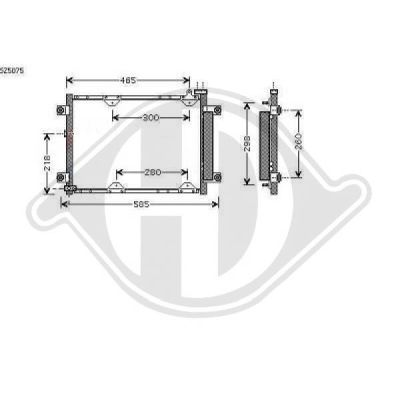 Condenseur, climatisation - HDK-Germany - 77HDK8136130
