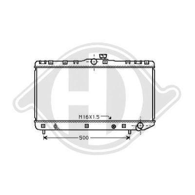 Radiateur, refroidissement du moteur - Diederichs Germany - 8136136