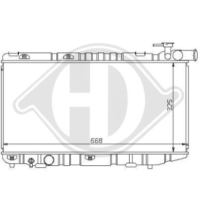 Radiateur, refroidissement du moteur - HDK-Germany - 77HDK8137130