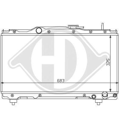 Radiateur, refroidissement du moteur - Diederichs Germany - 8137131